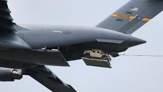 USAF Planes Airdrop Humvees