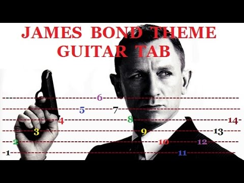 Guitar guitar tabs 007 theme song : James Bond Theme - Fingerstyle Guitar Tab - YouTube