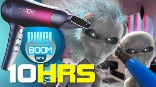 10 HRS Hair Dryer Sound Relaxing ASMR Aliens White Noise for Baby