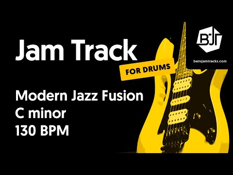 Modern Jazz Fusion In C Minor (for Drums) - BJT #38