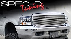 SPECDTUNING INSTALLATION VIDEO: 1999 - 2004 FORD F250-F350 LED PROJECTOR HEADLIGHTS