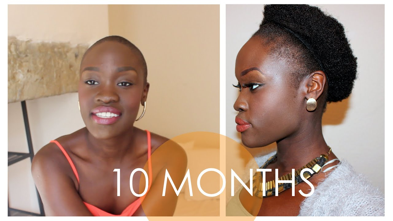 Big Chop 10 Month Hair Check In Length Check Before