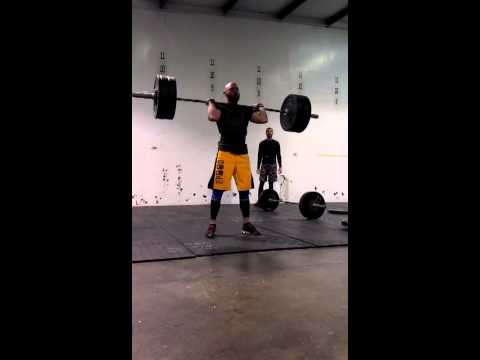 250 lb clean and ALMOST jerk... Bad language!