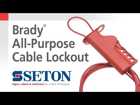 How to Install A Brady® All Purpose Cable Lockout Device | Seton Video