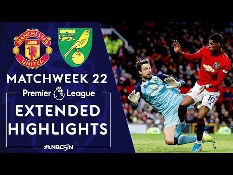 Manchester United v. Norwich City | PREMIER LEAGUE HIGHLIGHTS | 1/11/2020 | NBC Sports