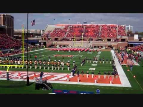 Chief Illiniwek Makes Surprise Appearance at Homecoming Halftime Show 2012
