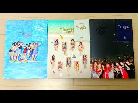 """트와이스 (TWICE) 2nd Special Album """"Summer Nights"""" Unboxing"""