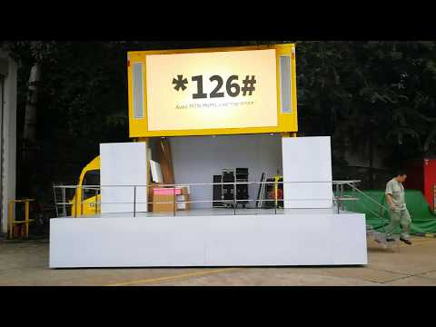 Siwun Mobile LED Stage truck for MTN Ghana Advertising
