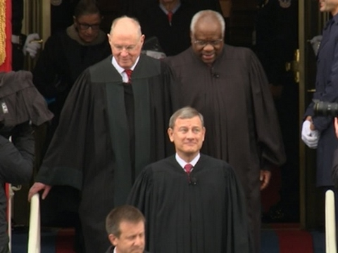 Raw: Supreme Court Justices Arrive at Capitol