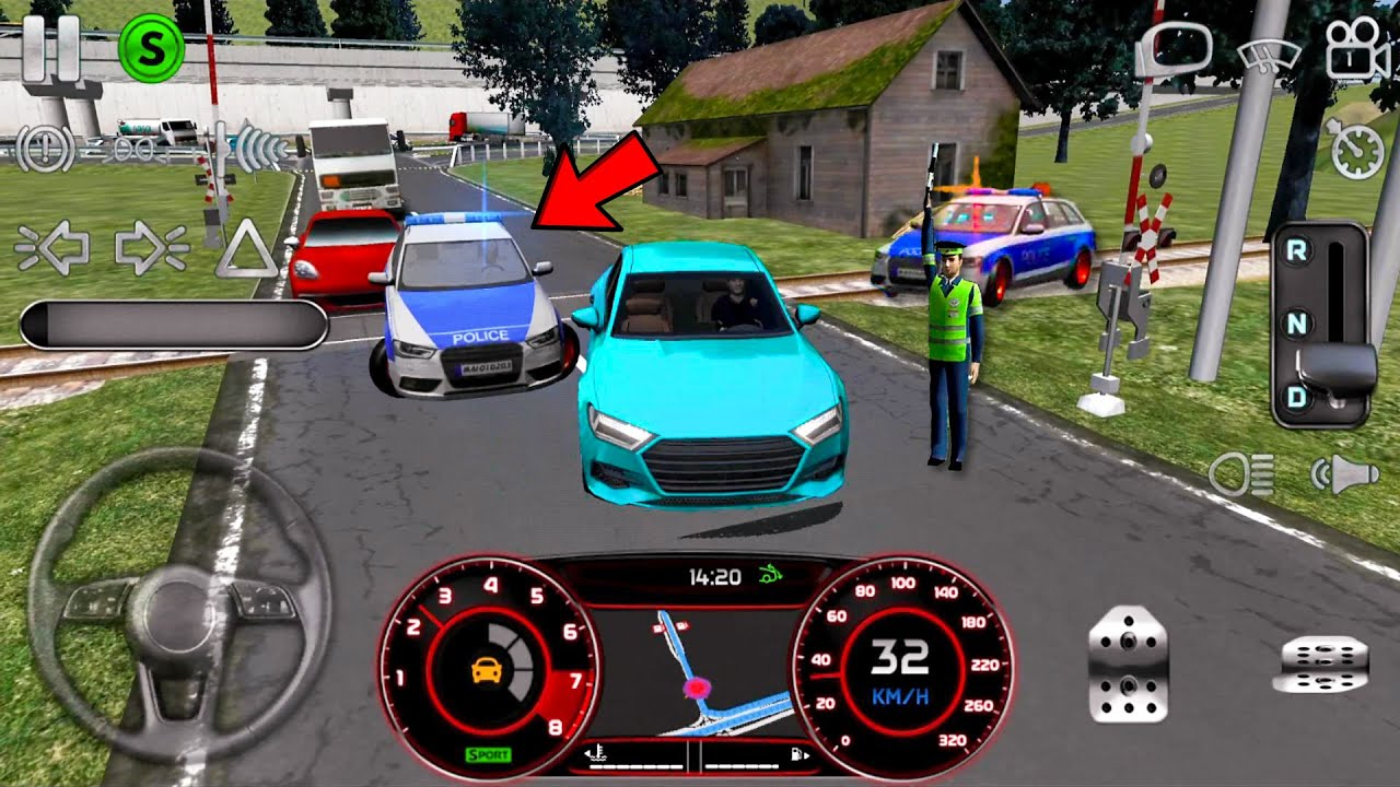 Real Driving Sim #28 Police Chase Fail! Car Games Android gameplay