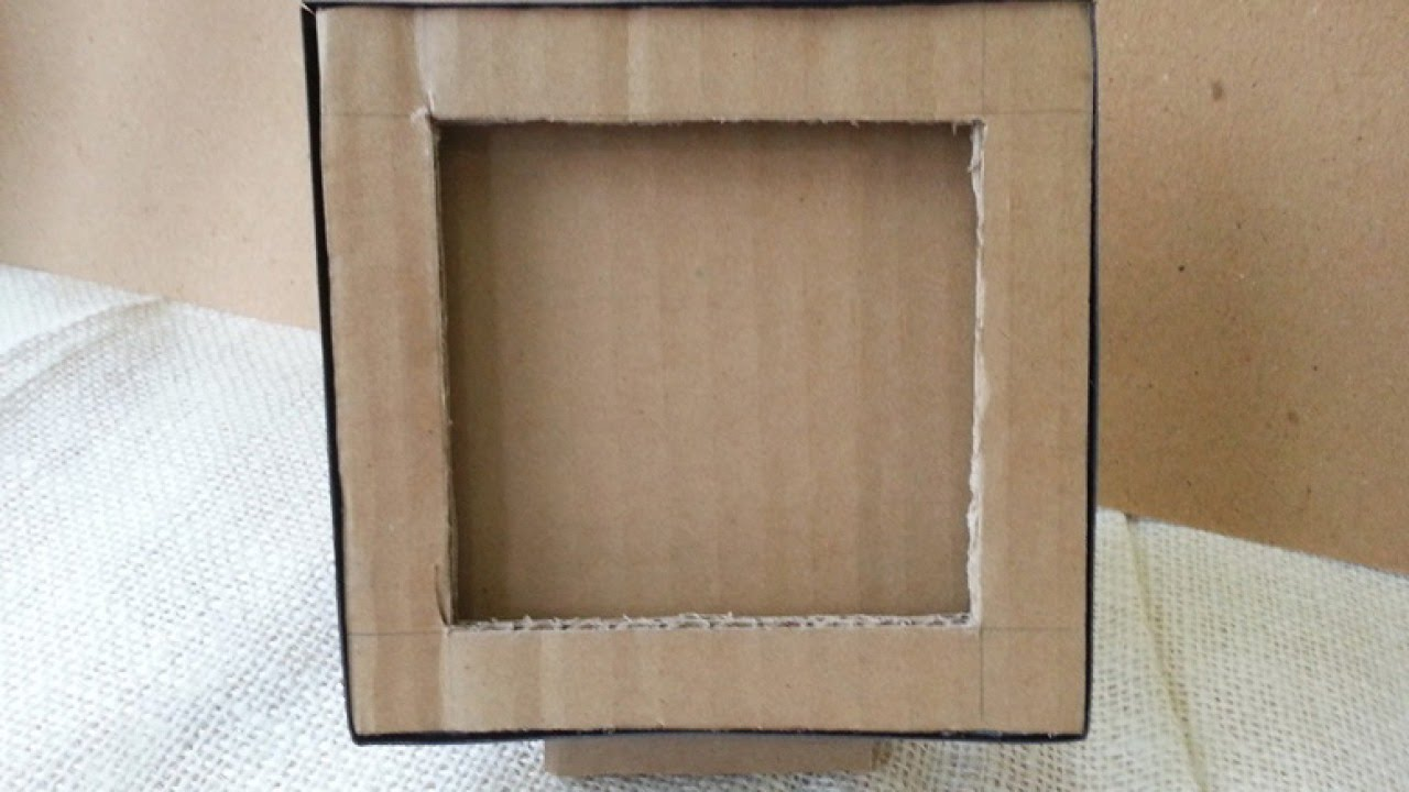 how to make a cardboard photo frame diy home tutorial guidecentral youtube