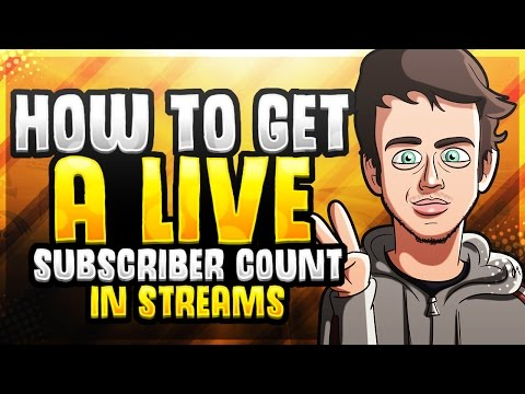How to get a Live Subscriber Count In Streams  I Tutorial
