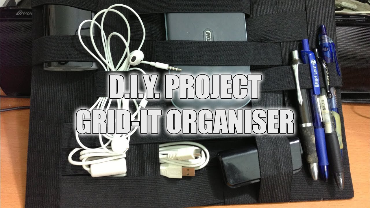 Diy how to make a grid it organiser youtube solutioingenieria Choice Image