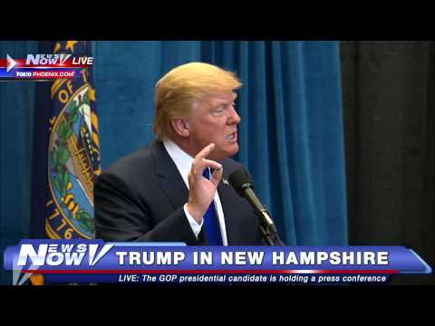 FNN: Donald Trump Holds Press Conference Before New Hampshire Town Hall