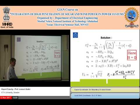 (Day 1, Part 1) Integration of High Penetration of Solar and Wind Power in Power Systems