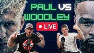 Jake Paul VS Tyron Woodley LIVE REACTION W/ Wonderboy Thompson