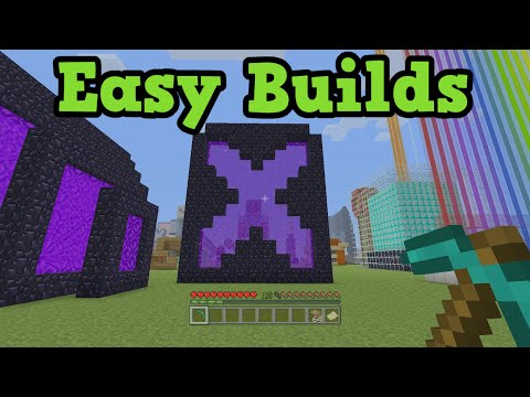 5 Easy Building Ideas For Minecraft Youtube