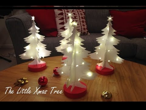 """""""The Little Xmas Tree""""   Paper Christmas Tree with Lights   How to Make"""