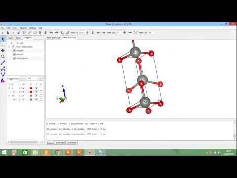 Draw wurtzite crystal structure with vesta (ZnO example)