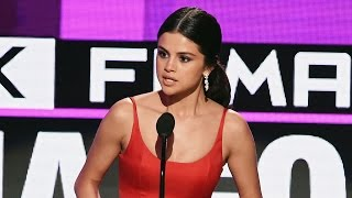 More celebrity news ►► http://bit.ly/subclevvernews why selena gomez's ama speech was so important... used her top female performer acceptance ...