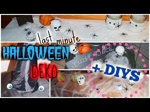 last minute halloween party deko 2 schnelle diys youtube. Black Bedroom Furniture Sets. Home Design Ideas