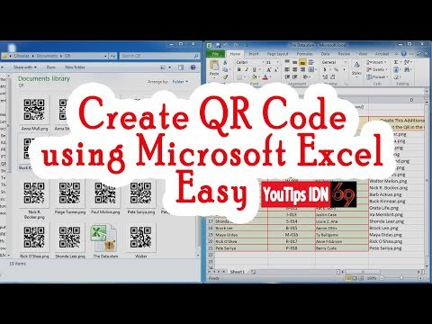 Create Barcode QR Code using Just Microsoft Excel Easy without anything else. Free!