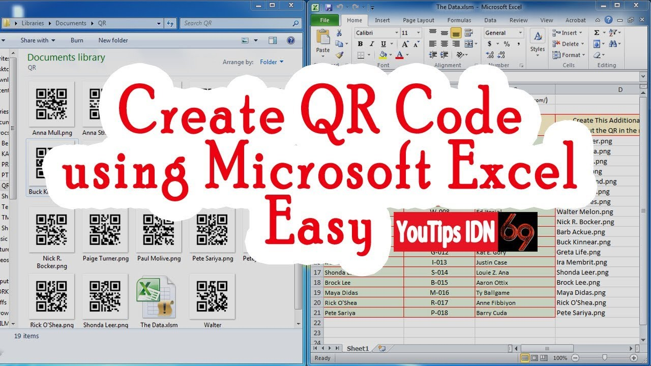 Create Barcode QR Code using Just Microsoft Excel Easy without anything  else  Free!