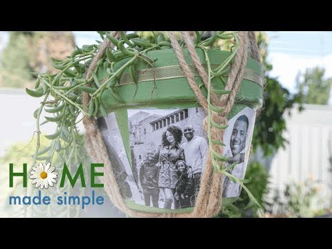 Decoupage Photo Pots | Home Made Simple | Oprah Winfrey Network