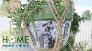 Decoupage Photo Pots | Home Made Simple | Oprah Winfrey Network