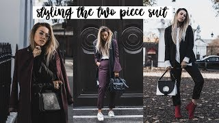 Ways To Style The Two Piece Suit For Autumn/Winter | Copper Garden