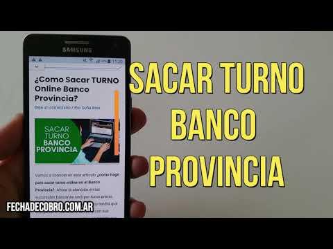 ¿Como sacar Turno Banco Provincia por Internet? Pedir turno online