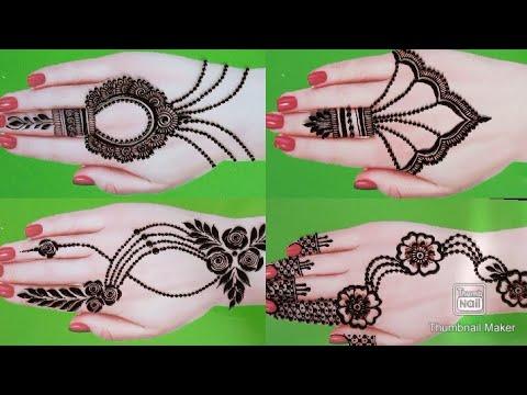 Top 7 Mehndi Design For Backhand_Mehandi Ka Design_Easy Simple Karwa Chauth\Navratri Mehndi Designs
