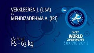 1/2 FS - 63 kg: J. VERKLEEREN (USA) df. A. MEHDIZADEHMA (IRI), 9-5