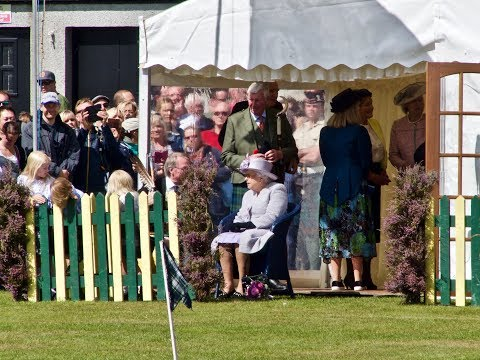 Aboyne Games 2017 - Visit by Her Majesty the Queen to the 150th Aboyne Games in Scotland