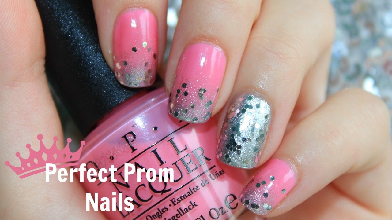 Pink and silver nails - Perfect Prom Nails Pink Silver Princess The Polish