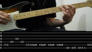 RHCP - Dani california solo (slow + tabs)
