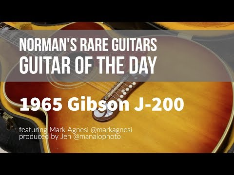 #TomPettyWeek Norman's Rare Guitars - Guitar of the Day: 1965 Gibson J-200 Mp3