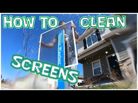HOW TO CLEAN SCREENS FOR WINDOWS