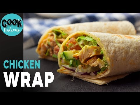 Mediterranean Roast Chicken Wrap