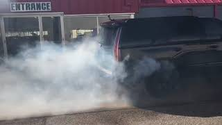 1000hp Twin Turbo Cadillac Murdalade burnout. Post Tuning & dyno teaser