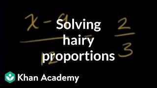 Solving proportions 2 exeŗcise examples   Algebra Basics   Khan Academy