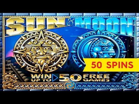Sun & Moon Slot - 100x BIG WIN - 50 Free Games Bonus Trigger!