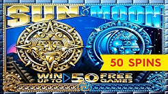 Sun & Moon Slot - BIG WIN BONUS - 50 FREE GAMES BONUS, YEAH!