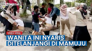 Dua Wanita Di Mamuju Berkelahi Di Tengah Jalan, Nyaris Kelihatan Bagian Intimnya!