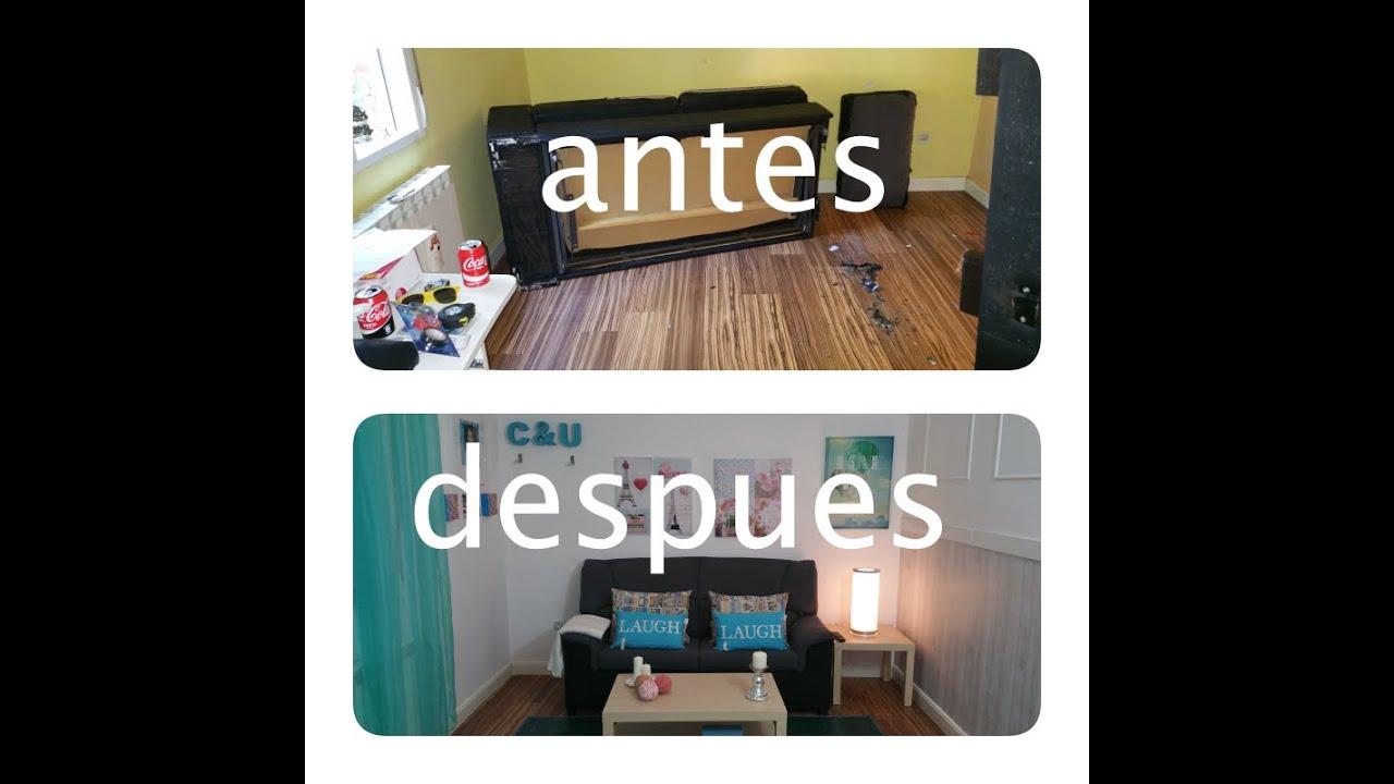 Reforma sala de estar y escritorio antes y despues youtube - Reformas antes y despues ...