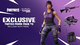 How To Get NEW Twitch Prime Pack #3 For *FREE* In Fortnite!