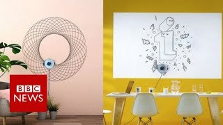 The robot that draws on walls - BBC News