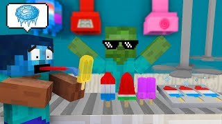 Monster School: WORK AT POPSICLE PLACE! - Minecraft Animation