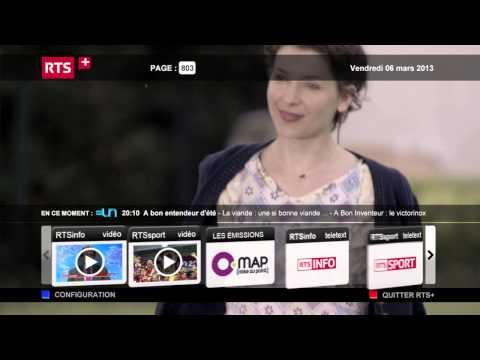 RTS presents HBBTV