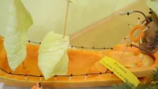 как сделать корабль из тыквы и капусты Идеи поделок из овощей